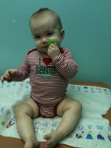 Guess who went to the pediatrician today?