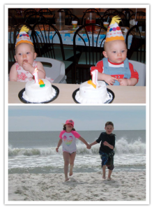 From their first birthday party to frolicking on the beach during spring break...my precious godkids have made the past eight years a blessing.
