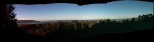 View of the Pacific Ocean and Los Padres National Forest from Gilbert's house