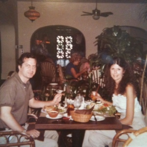 My parents lunching in Hollywood, 1983
