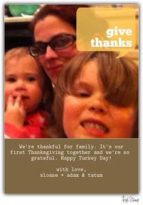 Our family's Thanksgiving card