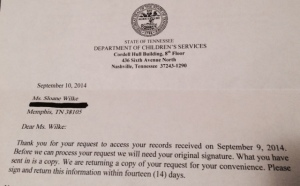 My 'redacted' correspondence