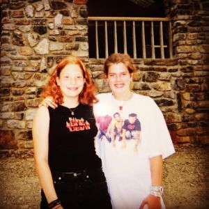Lorissa and me at Camp Ozark, 2000