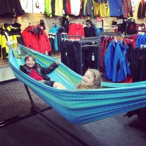Twinsies in a hammock