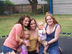 A day I'll forever cherish. Tiffany; her daughter, Mary Lynn; Brittany; Adam; and me  (2009)